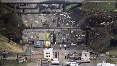Northwest Airlines Flight 255 left a trail of destruction.
