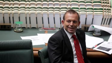 Bounce ... the Opposition Leader, Tony Abbott, would easily win an election if one were called now.
