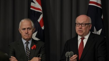 Malcolm Turnbull and George Brandis have given ISPs an ultimatum.