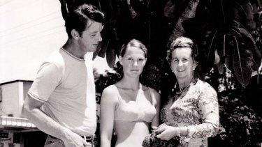 Bikini pioneer Paula Stafford (far right).