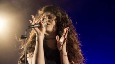 New Zealand singer and songwriter Lorde performs at the Corner Hotel, Richmond.