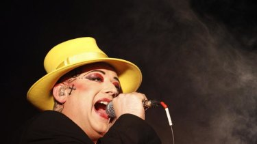 Singer Boy George performs at the Glastonbury Festival 2010