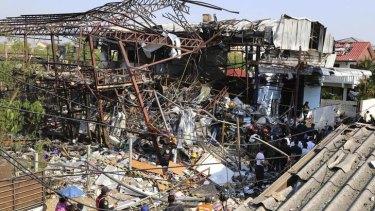 Devastation: The metal scrap shop.