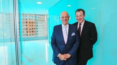 Premier investments chairman Solomon Lew and CEO Mark McInnes.