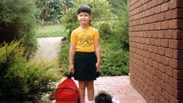 Growing up: Anna Plunkett in her sports uniform.