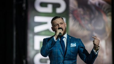 Well cut: McGregor is well known for his dedication to fashion and sometime eccentric outfits.