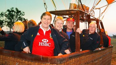 British and Irish Lions fans celebrate their team's victory on Sunday with a Hot Air Balloon Brisbane flight.