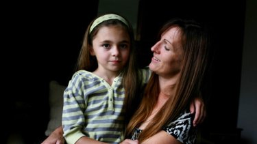 Tracy Banks with her daughter Emily 9.