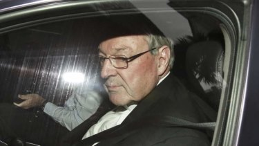 Cardinal George Pell arrives at the child abuse Royal Commission in Sydney.