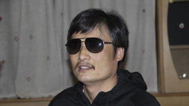 Blind legal activist Chen Guangcheng.
