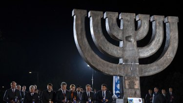 Leaders from Ukraine and across Europe mark the 2016 anniversary at the site by a new memorial to the Jews slain there.