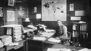 But not forgotten: Major James Lean, MBE, the man in charge of army base records.