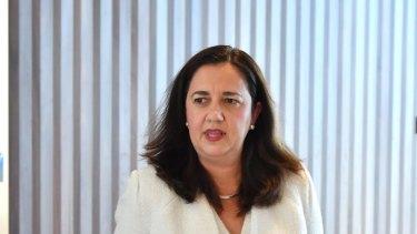 In the hot seat: Queensland Premier Annastacia Palaszczuk.