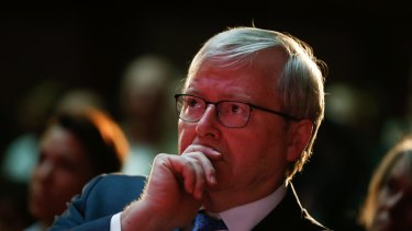 Former prime minister Kevin Rudd was ousted by his own party as leader. The AICD says four-year fixed terms would stop that.