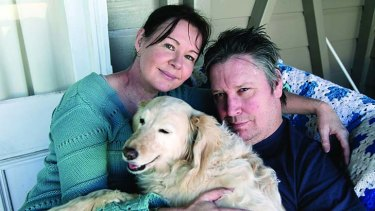 Happy man: Jeremy Oxley with wife Mary. The Sunnyboys guitarist is the focus of a documentary on his recovery from isolating illness.