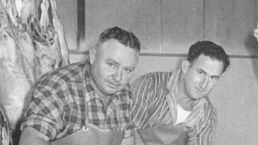 Max Teys and Hugh Ketter of Teys Australia, pictured in 1956.