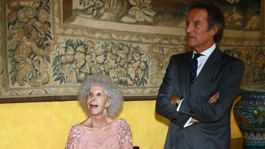 Just married ... Spain's Duchess of Alba and her husband Alfonso Diez.