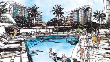 The draft Racecourse Precinct Neighbourhood Plan provides for towers up to 15 storeys high.