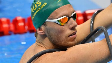 Australian swimmer Thomas Fraser-Holmes, pictured in Rio last year.