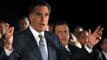 Mitt Romney … sitting in pole position in Iowa.