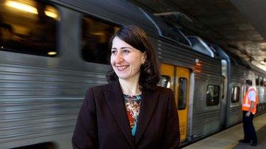 NSW Transport Minister, Gladys Berejiklian: unveiled train revamp.