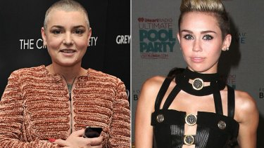 Nothing Compares ... Sinead O'Connor and Miley Cyrus at Twitter war over <i>Wrecking Ball</i> video.