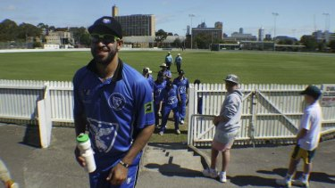Turn for the better: Leg-spinner Fawad Ahmed rose from the club ranks of Melbourne University and Hoppers Crossing to representing Victoria and Australia.