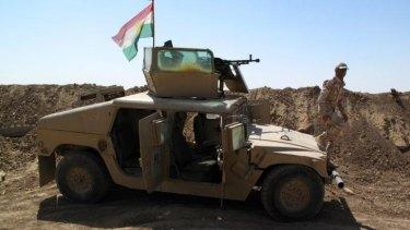 Peshmerga forces three kilometres from ISIL forces.