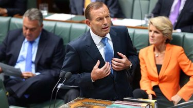 'First of all, Mr Abbott, the gender imbalance in your government is truly shocking.'