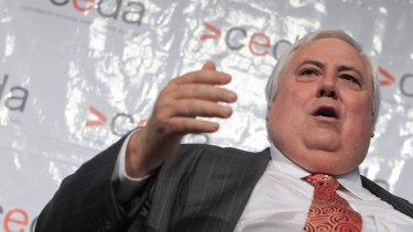 'We've got to put the interests of trade to the foremost' ... Clive Palmer.