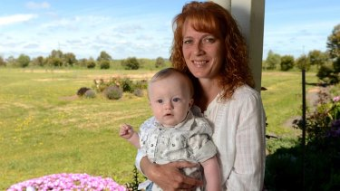 Success: Susanne Hodgson with son Alex, who was conceived after 10 rounds of IVF treatment. She is trying for another child.