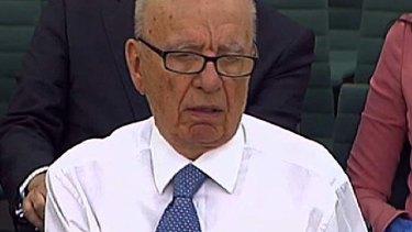 Humbled ... Rupert Murdoch.