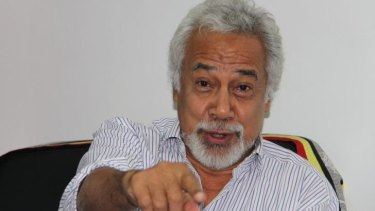 """East Timor's Prime Minister Xanana Gusmao in his office in Dili: """"We are fighting for our sovereignty.''"""