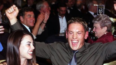 The moment when Shane Woewodin won the Brownlow Medal.