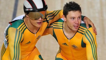 Self-imposed punishment . . .Shane Perkins (R) has given up his team sprint spot.