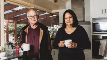 Brian and Rosalind McMahon, who have welcomed measures for older Australians in the federal budget.