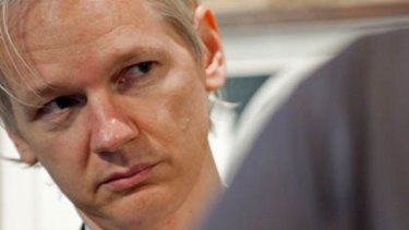 Australian founder of whistleblowing website WikiLeaks  Julian Assange.