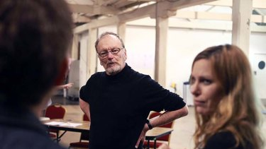 Parental guidance ... John and Lucy Bell during rehearsals for <em>The Duchess of Malfi</em>.