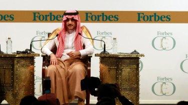 On the sidelines: Saudi billionaire Prince Alwaleed bin Talal