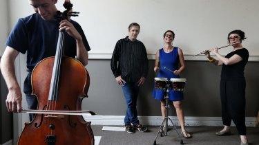 Ensemble Offspring: (from left) David Moran, Juan Felipe Waller, Claire Edwardes and Lamorna Nightingale.