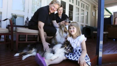 ''Double dose'': Michelle Packet and Judy Cole with their daughter, Jessica.