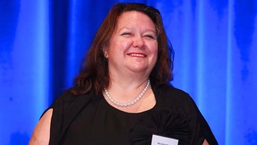 Influence ... Gina Rinehart is building up her stake in Fairfax.