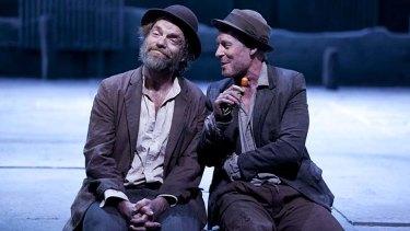 Hugo Weaving as Vladimir and Richard Roxburgh as Estragon.