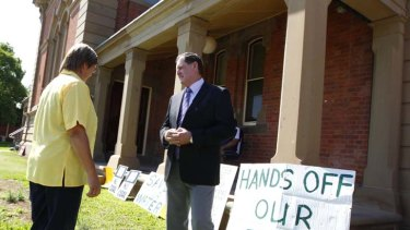 Campaign ... Ian and Robyn Moore fought against exploratory drilling on their property.