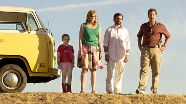 Abigail Breslin, Toni Collette, Steve Carell and Greg Kinnear in <em>Little Miss Sunshine</em>.
