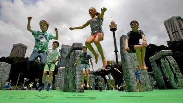Child's play: <i>Sacrilege</i>, a life-size Stonehenge bouncy castle.