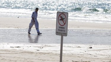 Byron Bay beaches are closed after a fatal shark attack.