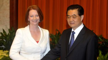 Prime Minister Julia Gillard, pictured with Chinese President Hu Jintao in April, says we are entering the 'Asia century', marking an unprecedented enthusiasm about engagement with China.