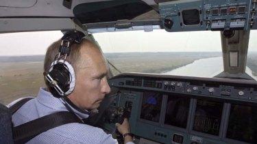 Vladimir Putin . . . firefighting antics criticised.