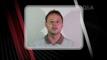David Hicks confronts John Howard by video on <i>Q&A</i>.